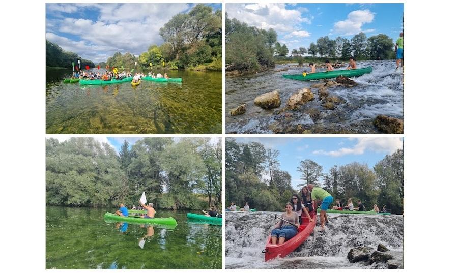 Descendo o rio Kolpa em canoa